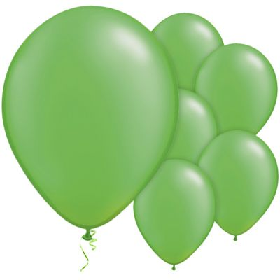 Lime Green 11 inch Pearl Latex Balloons - 100 Pack