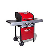Outback Meteor Hooded 3 Burner Red Gas Barbecue