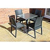 Brackenstyle Madrid Pedestal Table and 4 Side Chairs Set - Seats 4