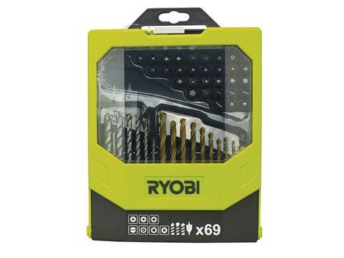 Ryobi RAK 69MIX Mixed Screwdriver Set of 69