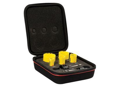 Starrett KDC05021 Deep Cut Bi Metal Electricians Holesaw Kit 7 Piece