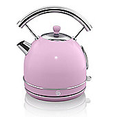 Swan Retro 1.7 Litre Dome Kettle - Pink