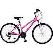 """Ammaco Denver Front Suspension 26"""" Wheel Bike 18"""" Pink"""