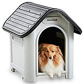 Milo & Misty Small Plastic Dog House - Outdoor Kennel for Pet Shelter