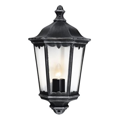 Traditional Black/Silver Cast Aluminium Outdoor Wall Light