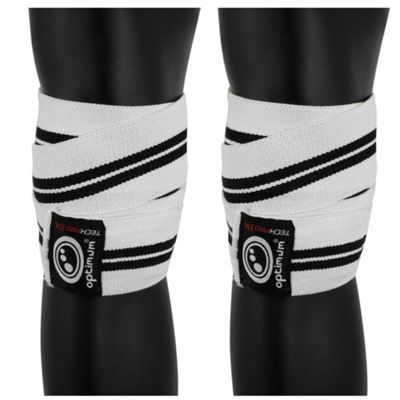 Optimum Techpro X14 Support Knee Wraps White/Black