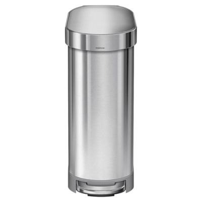 simplehuman 45L slim bin brushed st steel
