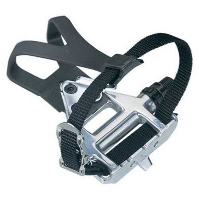 Wellgo LU961 Alloy Road Pedals with Clips and Straps