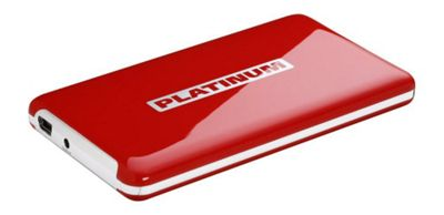 Platinum 500GB MyDrive External Hard Drive Red