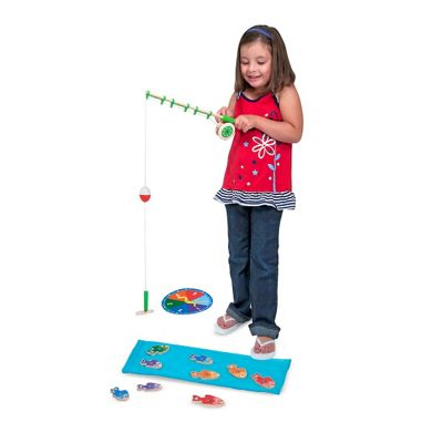 Melissa & Doug Catch And Count Magnetic Fishing Rod Set