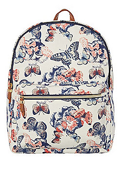 F&F Butterfly Canvas Backpack Multi One Size