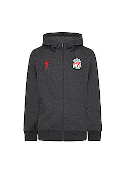 Liverpool FC Boys Zip Hoody - Grey