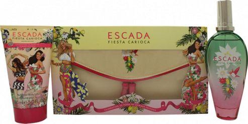 Escada Fiesta Carioca Gift Set 100ml EDT + 150ml Body Milk + Bag For Women