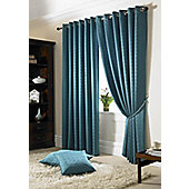 Alan Symonds Madison Teal Eyelet Curtains - 66x54 Inches (168x137cm)