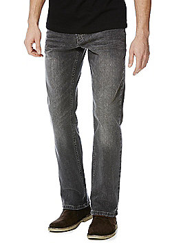 F&F Washed Loose Fit Jeans - Grey