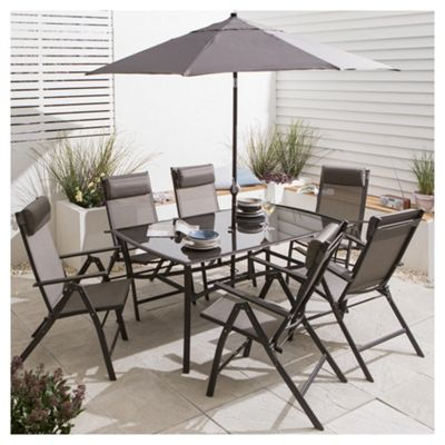 Roma Metal Garden Furniture Set 8 Piece