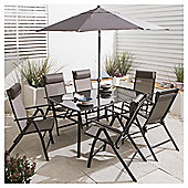 Roma Metal Garden Furniture Set, 8 piece