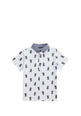 F&F Pineapple Print Polo Shirt White 12-18 months