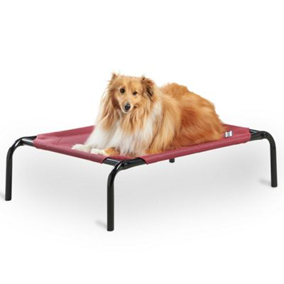 Milo & Misty Small Elevated Pet Bed. Portable Raised Pet Cooling Bed