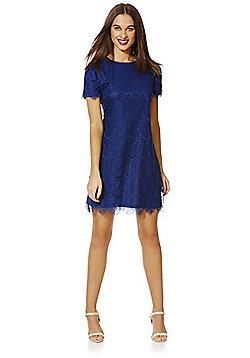 Mela London Lace Shift Dress - Navy