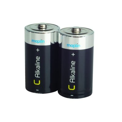 Maplin R14 Extra Long-Life Alkaline Pack of 2 C Battery