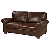 Ledbury Medium 2.5 Seater Leather Sofa, Chocolate Brown