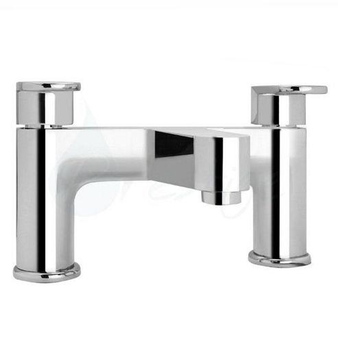Prestige Deco Pillar Mounted Bath Filler Tap, Two Handle, Chrome