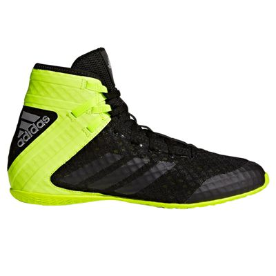 adidas Speedtex 16.1 Mens Boxing Trainer Shoe Boot Black/Green - UK 10
