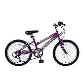 "Ammaco Eclipse Girls 20"" Wheel Bike 6 Speed Purple"