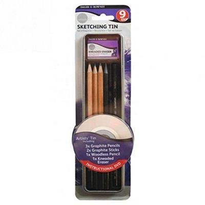 Daler Rowney Simply Pencil Sketching Tin Set (9 Pieces) - Arts and Crafts