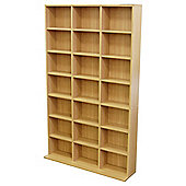 588 CD / 378 DVD Blu-ray Media Storage Unit - Beech
