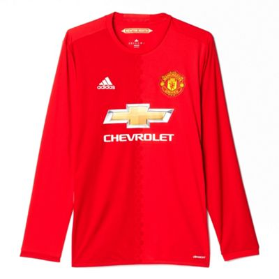 adidas Manchester United 2016/17 Mens Long Sleeve Home Shirt Red - XL