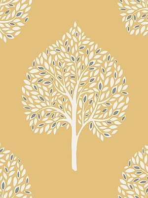 Annabelle Tree Wallpaper Yellow Fine Decor FD41930