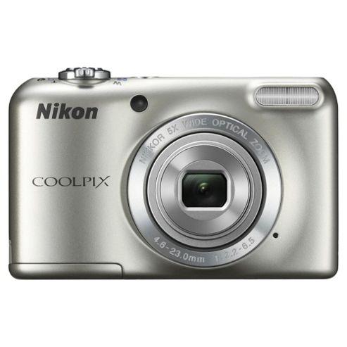 Nikon Coolpix L27 Digital Camera, Silver, 16 MP, 5x Optical Zoom, 2.7 inch LCD screen