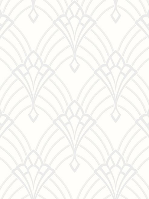 Astoria Deco Wallpaper White And Silver Rasch 305302