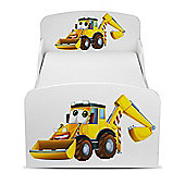 PriceRightHome Diggers Toddler Bed & Deluxe Foam Mattress