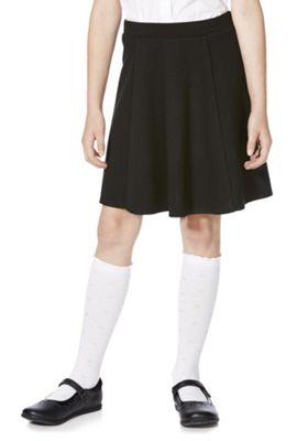 F&F School Girls Jersey Skater Skirt 4-5 years Black