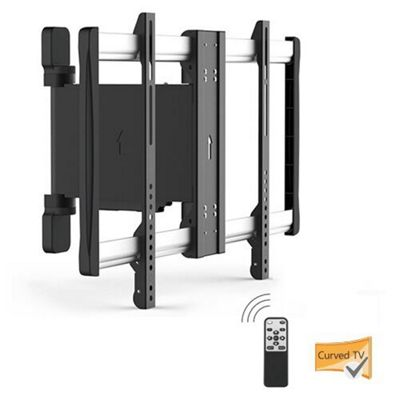Lithe Audio Motorised Curved and Flat Panel TV Wall Mount - Up To 60 inch