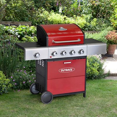 Outback Meteor 4 Burn Bbq with Regulator