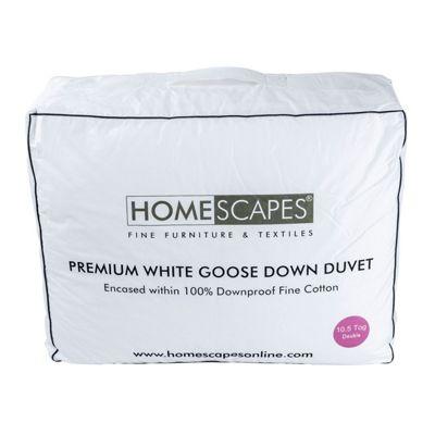 Premium White Goose Down 10.5 Tog Double Size Autumn Duvet