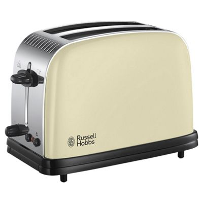 Russell Hobbs 23334 Colours Plus 2 Slice Toaster - Cream