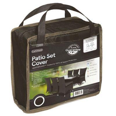 Lg Rct Patio Set Cvr Black (2)