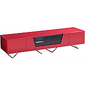 Alphason Chromium Red TV Stand for up to 75 inch TVs