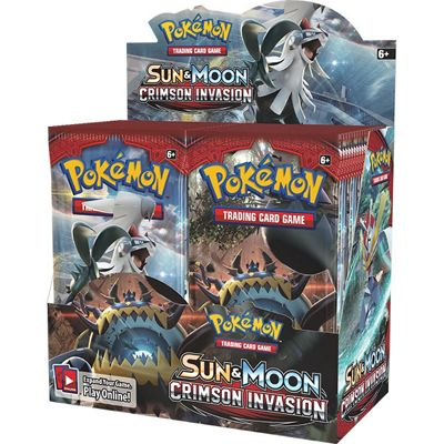 Pokemon TCG: Sun & Moon Crimson Invasion Booster Box (36 Packs)