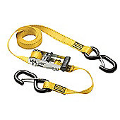 Master Lock Ratchet Tie-Down + S Hooks 3m (Pack of 2)
