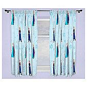 Disney Frozen Lights Pencil Pleat Curtains, Blue (54 x 66'')