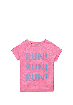 F&F Active Slogan Racerback Detail T-Shirt - Hot pink