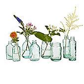 Design Ideas Vase Mason Style Recycled Glass Assorted Shapes Set of 8