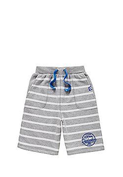 Dudeskin Striped Marl Jersey Shorts - Grey marl