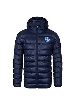 Everton FC Mens Quilted Jacket - Navy